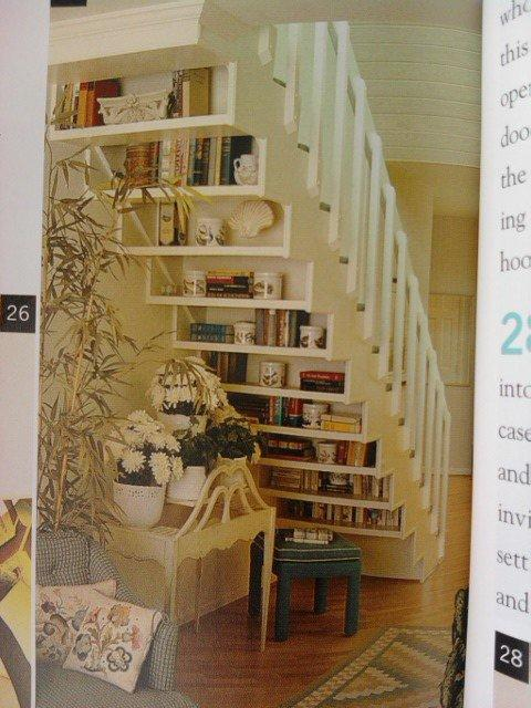 Organizing Products / another interesting stair storage idea