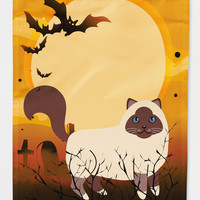 Halloween Birman Cat Flag Canvas House Size BB4441CHF