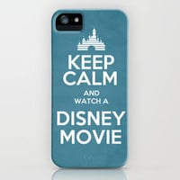 Keep Calm and Watch a Disney Movie iPhone Case by -raminik design- | Society6