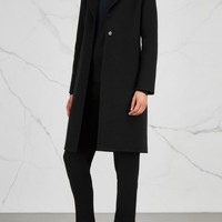 THE ROW Coyan black wool coat