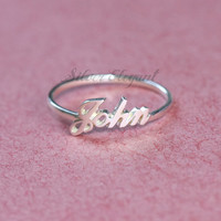 Name Ring - Up To 15 Character - Personalized Gift - Just For Mom - Sterling Silver