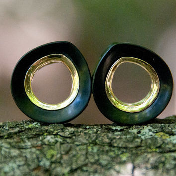 Delrin Teardrops with Brass Edge