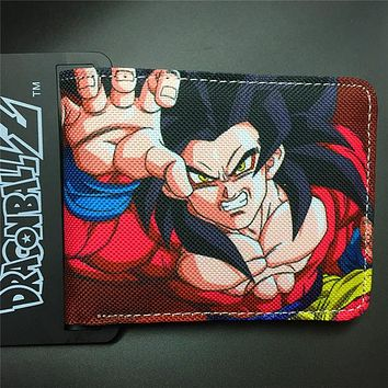 DRAGON BALL character SSJ4 canvas man wallets