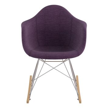 Mid Century Rocker Chair Plum Purple