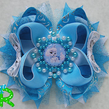 Palace Pets ott bow, Disney pumpkin hair bow  for girls, stacked boutique bow, palace pets bow, Cinderella pet  bow