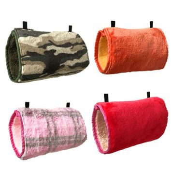 1 Piece Small Pet Warm Tunnel Hammock Hanging Bed Cages For Hamsters