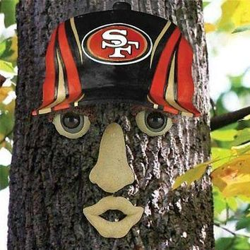 San Francisco 49ers NFL FOREST FACE Yard/Tree GARDEN Decoration