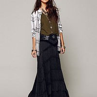Free People Womens FP X Belly Dancer Convertible Skirt - Black XS