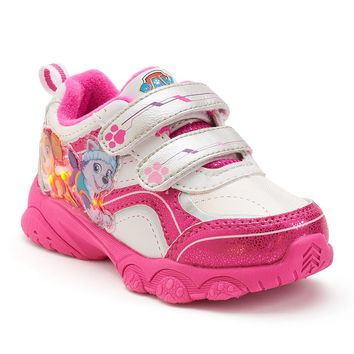 Paw Patrol Girls' Skye & Everest Light-Up Athletic Shoes (Pink)