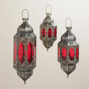 Red Abhati Hanging Lantern - World Market