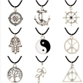 Tai Chi Yin Yang Compass Anchor For The New Fashion Jewelry Necklace Pendant Elo Star Chain Lovers