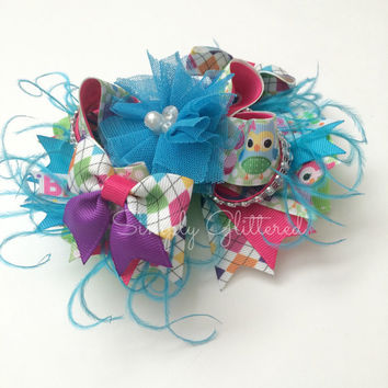 OTT Owl Birthday Bow