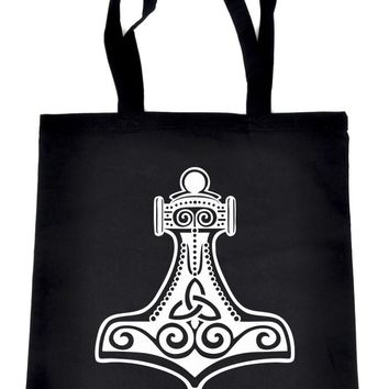 Mjolnir Thor's Hammer Tote Book Bag Handbag Norse Viking God