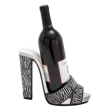 Woodland Imports Jungle Print Strappy Shoe Wine Holder | www.hayneedle.com