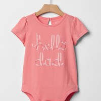 Gap Baby Hello Family Bodysuit