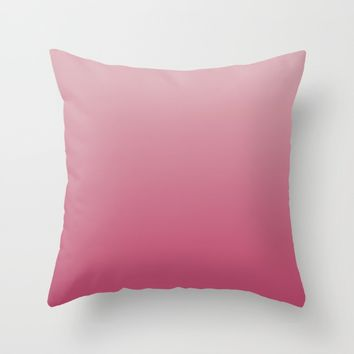 Soft Rose Ombre Throw Pillow by Lindsay