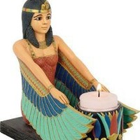 Egyptian Art | Winged Isis Votive Candle Holder