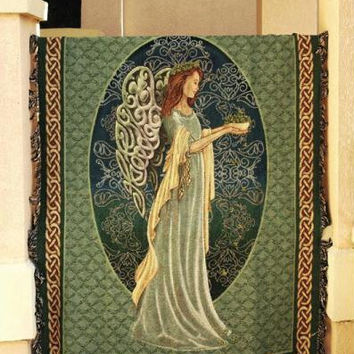 Irish Angel Throw Blanket - Made In The Usa