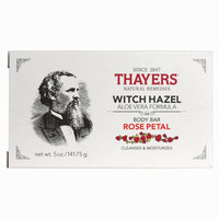 Rose Petal Witch Hazel Body Bar with Aloe Vera - Thayers Natural Remedies