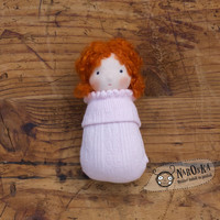 Waldorf pocket doll with socks body - Red hair - toy for toddlers - baby doll - girl doll - for Christmas