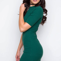 Lala Ribbed Dress - Green