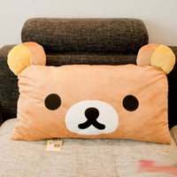 San-x Rilakkuma Plush Pillows SIZE 65*36cm Cute! Pillow AND Pillowcase included.