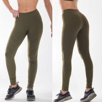 Army Green Sport Fitness Leggings