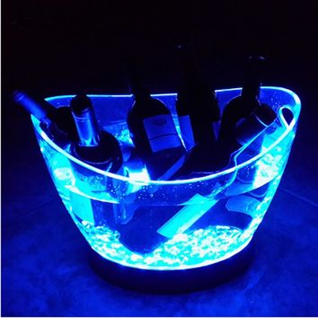LED Acrylic Ice Bucket 12L Volume
