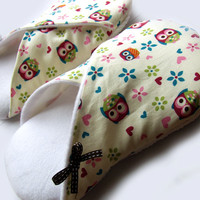 Women Slippers, Hoot Owls And Flowe.. on Luulla