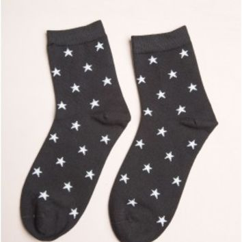 Navy and White Stripe Socks - Socks - Accessories