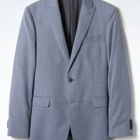 Slim Light Blue Wool Suit Jacket | Banana Republic