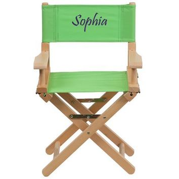 Personalized Kid Size Directors Chair in Green