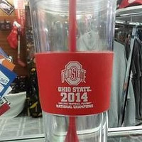 NCAA Ohio State Buckeyes Championship 22oz Double Wall Tumbler with Straw