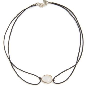 Madian Moonstone Leather Choker
