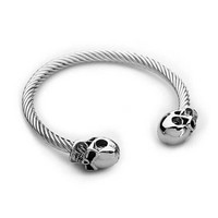 Womens Mens Fashion Casual Skull Punk Style Bracelet Adjustable Hight Quality Cool Bracelet Best Gift
