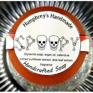 SPOOPY Halloween Soap   Unisex   Shave & Shampoo Bar   Beard Wash   Shave Puck   Apple Cider Scent