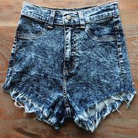 A High Waisted Cutoff in Dark Wash