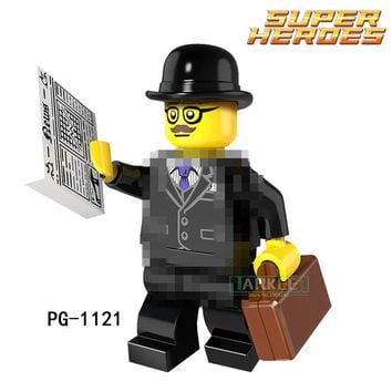 Building Blocks Businessman Tauren Vampire Bat Joker Super Hero Star Wars Action Bricks Kids DIY Toys Hobbies PG1121 Figures