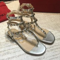 Valentino Women Fashion Casual Sandals Shoes-1
