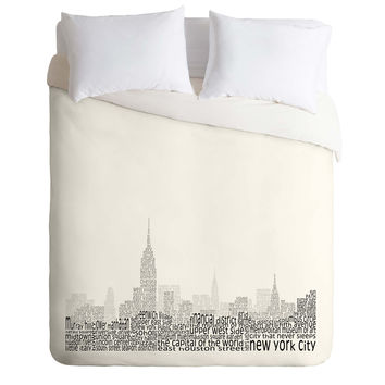 Restudio Designs New York Skyline 1 Duvet Cover