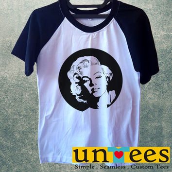 Marilyn Monroe Short Raglan Sleeves T-shirt