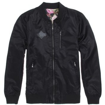 Lira Bombs Away Reversible Bomber Jacket - Mens Jacket - Black