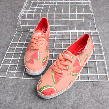 """Keds"" Watermelon Fruit Print Low Help Shoes Canvas Shoes Flats Shoes Women Shoes"