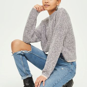 PETITE Twisted Yarn Jumper - Sweaters & Knits - Clothing