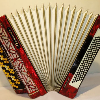 Accordion Instrument Musical Instrument  5 Rows BARCAROLE Professional 120 bass Perfect Button Accordion German Bayan 287
