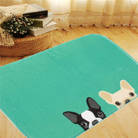 New Style Lovely Soft Dog Rug Anti-Slip Plush Door Pad Floor Mat Tailored Carpet Cushion Rugs Bedroom Living Room Footcloth