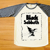 Black Sabbath Shirt Heavy Metal Rock Shirt Long Sleeve Women Shirt Men Shirt Unisex Shirt Baseball Tee Shirt Jersey Raglan Tee S,M,L