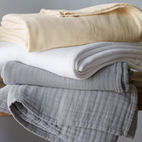 Eileen Fisher Gauzy Cotton Blanket
