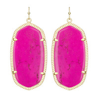 Kendra Scott Danielle Drop Earrings Magenta