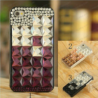 Square crystal  iphone case bling case fashion iphone case iphone 3 case iphone 4 case iphone 4s case iphone 5 case